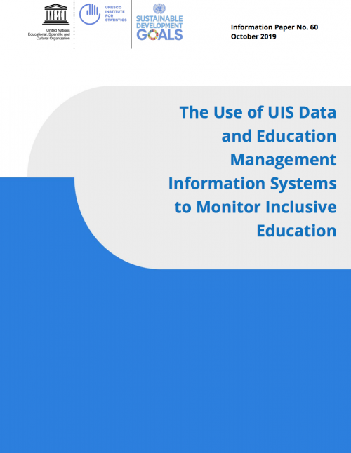 The Use of UIS Data and EMIS to Monitor Inclusive Education